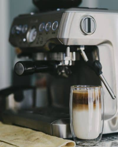 breville barista express latte
