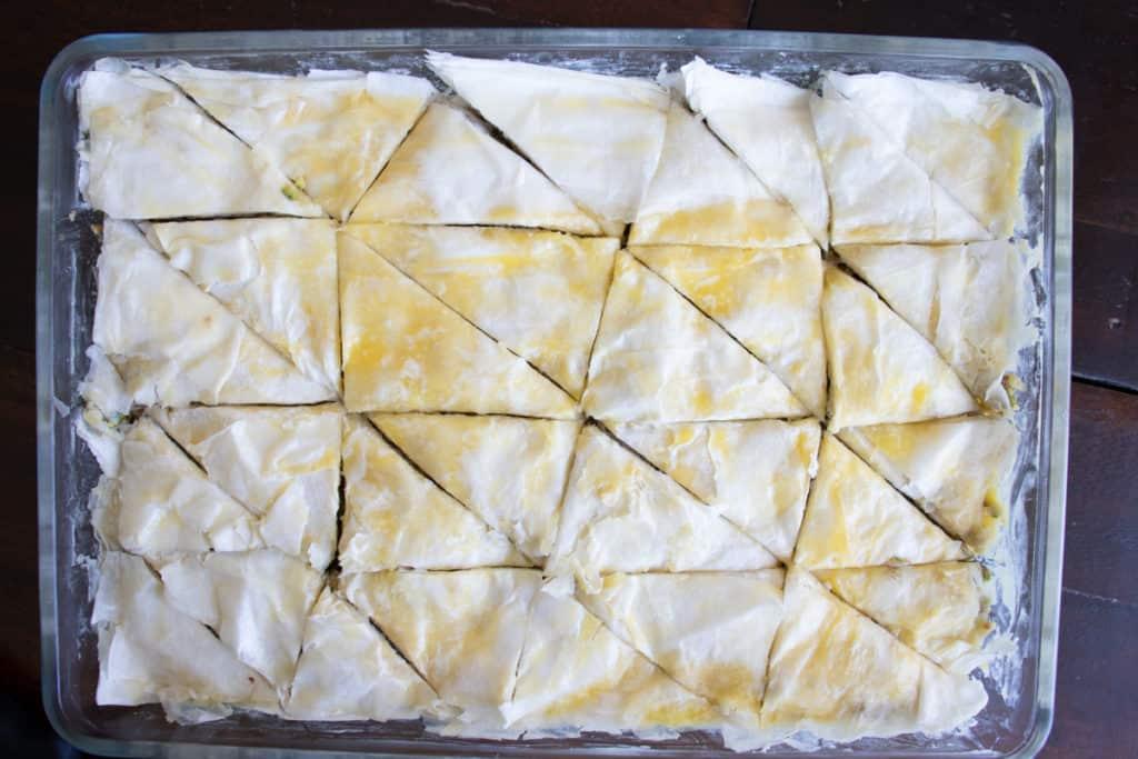 easy baklava recipe before baking