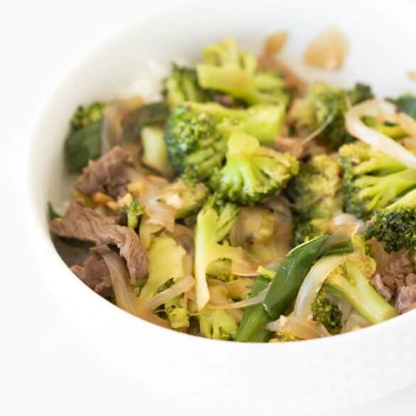 beef stir fry with broccoli