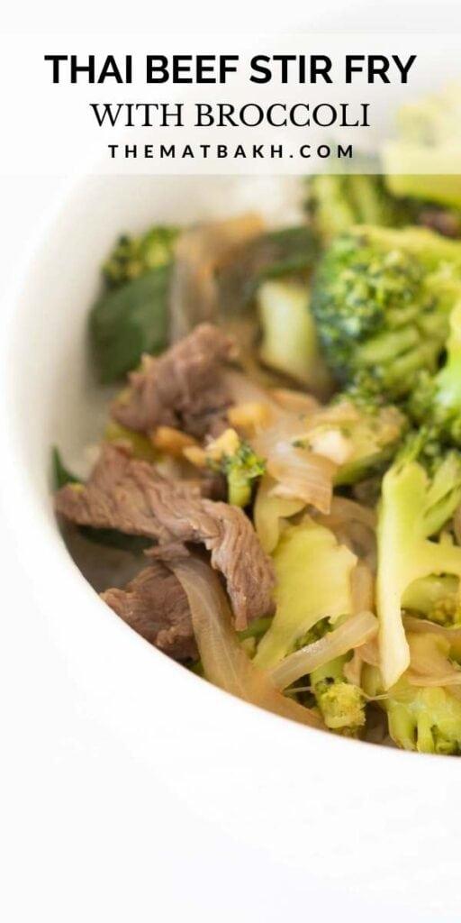 thai beef and broccoli stir fry