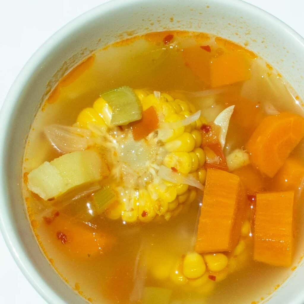 vegetable soup with potatoes