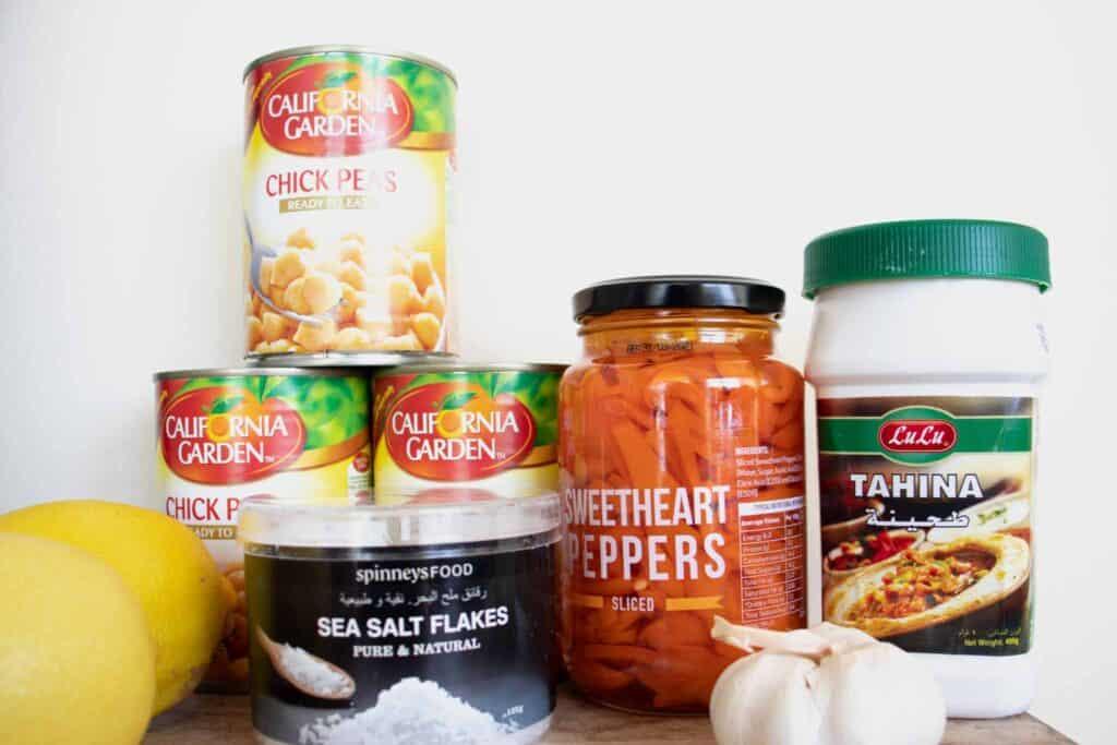 easy hummus recipe ingredients