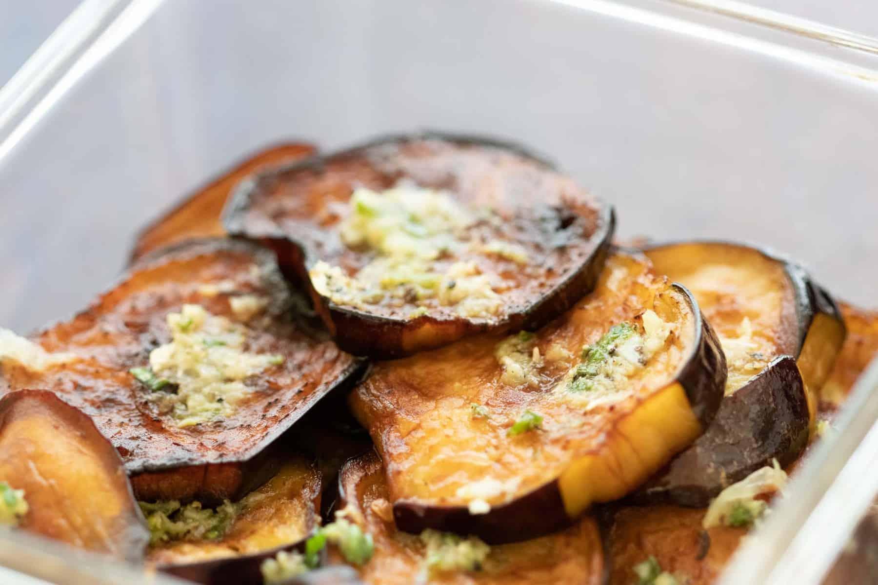 fried egpplant with garlic