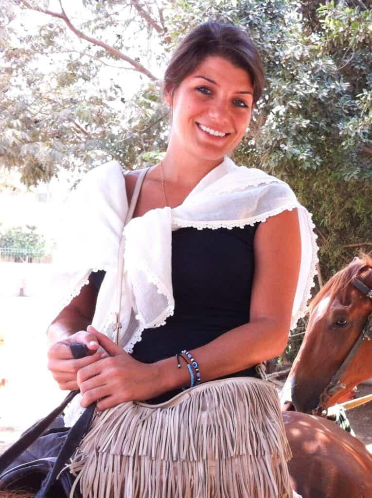 Lilian B. on a horse