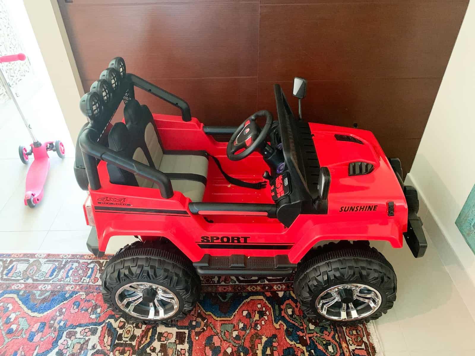 jeep wrangler in home