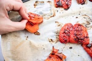 roasted red pepper with skins