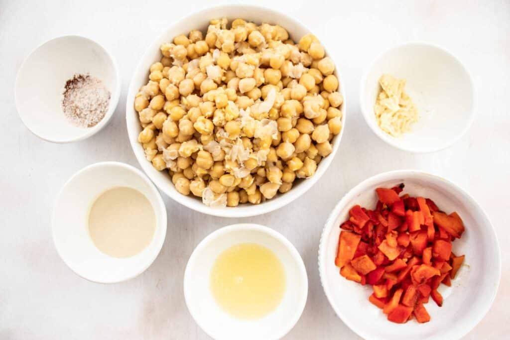 hummus with tahini ingredients