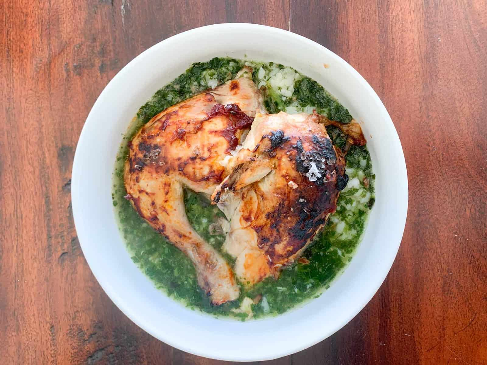 egyptian molokhia recipe with roasted chicken