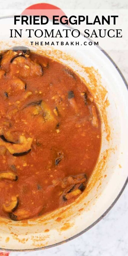 fried eggplant in tomato sauce