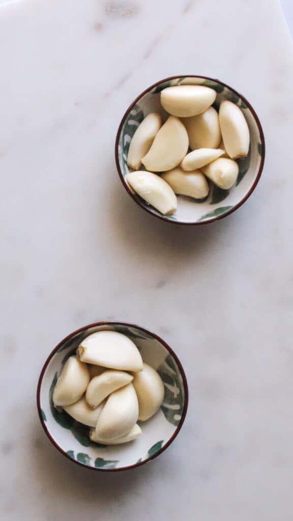 Garlic Cloves in Dishes