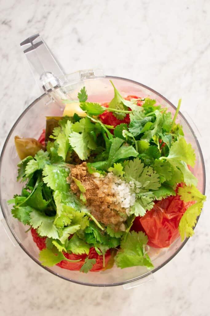 add pineapple salsa recipe to food processor