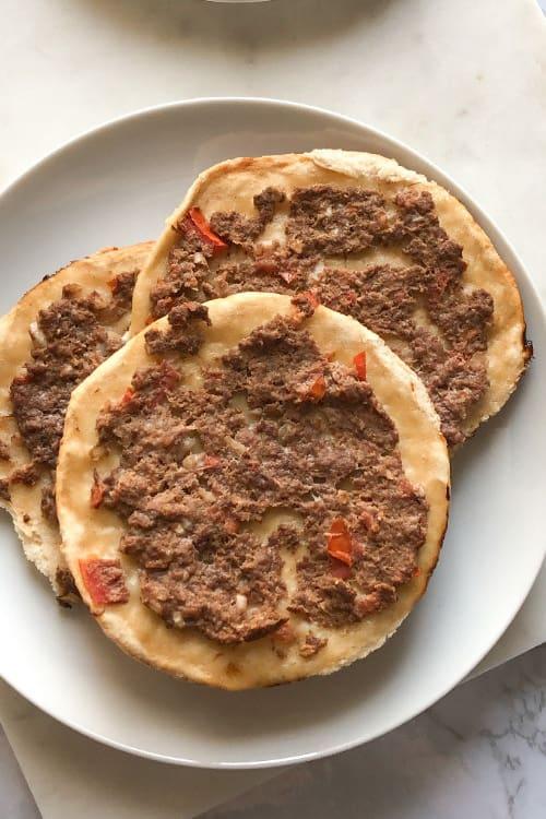 cooked sfiha lahmajun recipe