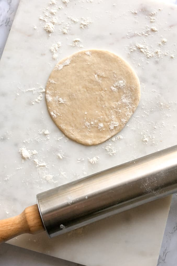 sfiha meat pie dough rolled