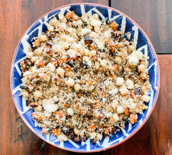 quinoa salad with chickpeas and sweet potatoes