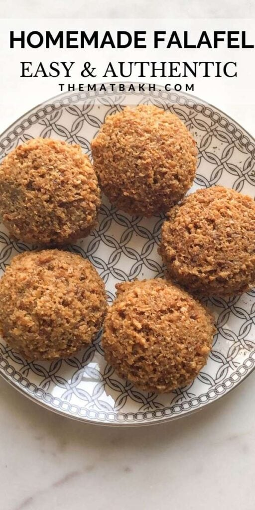 AUTHENTIC LEBANESE FALAFEL RECIPE