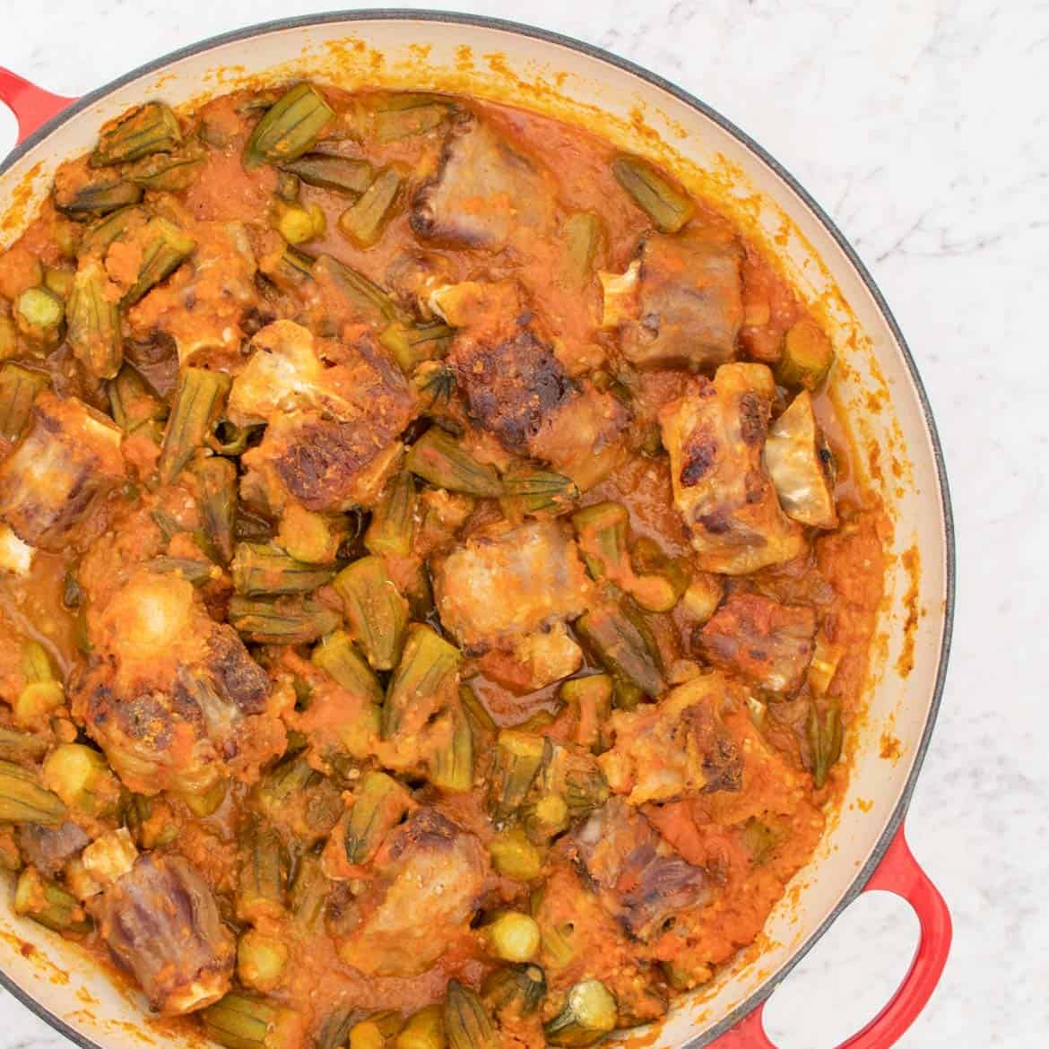 how to cook oxtail stew with okra