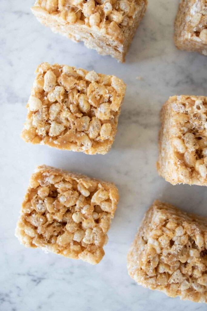 biscoff cookie butter rice krispie treats