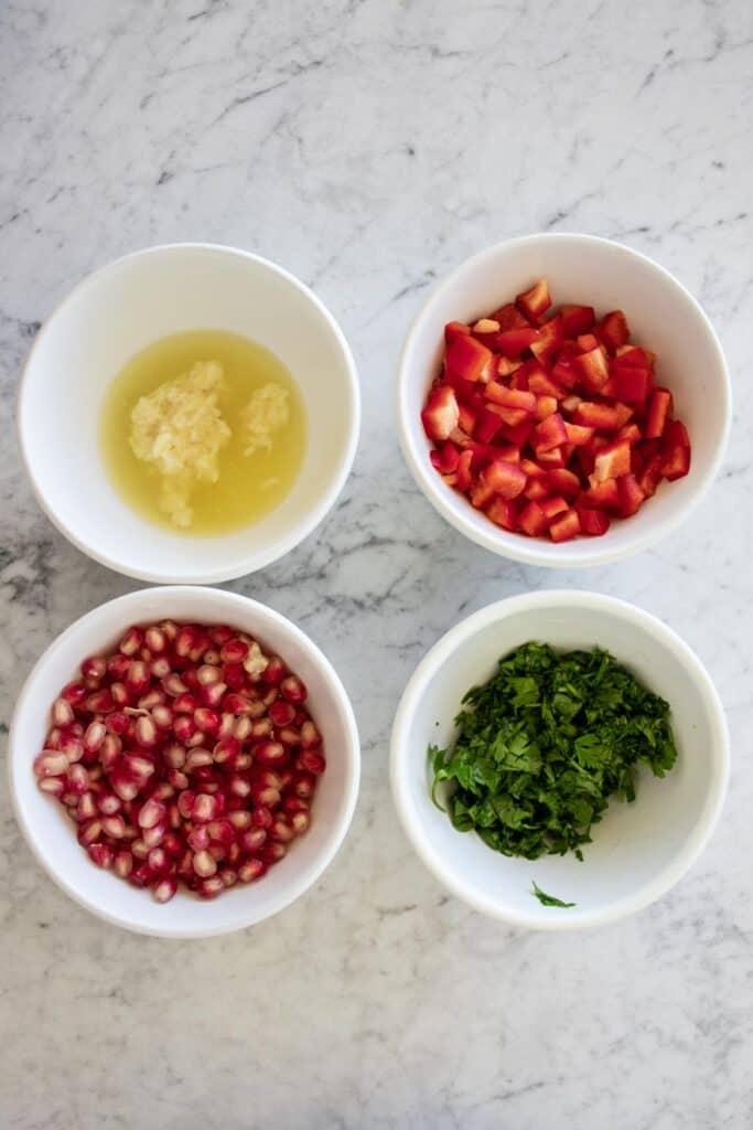 ingredients for eggplant dip