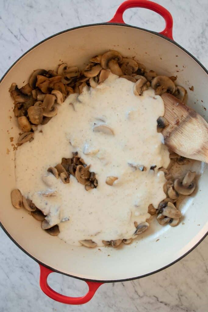 mushroom cream pasta sauce