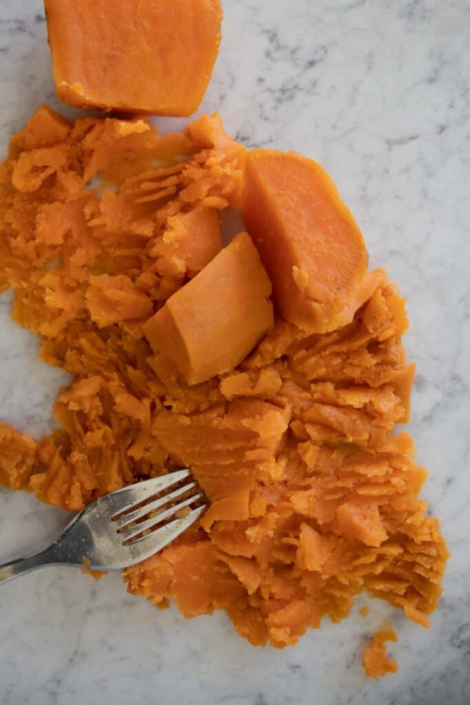 smash the sweet potato