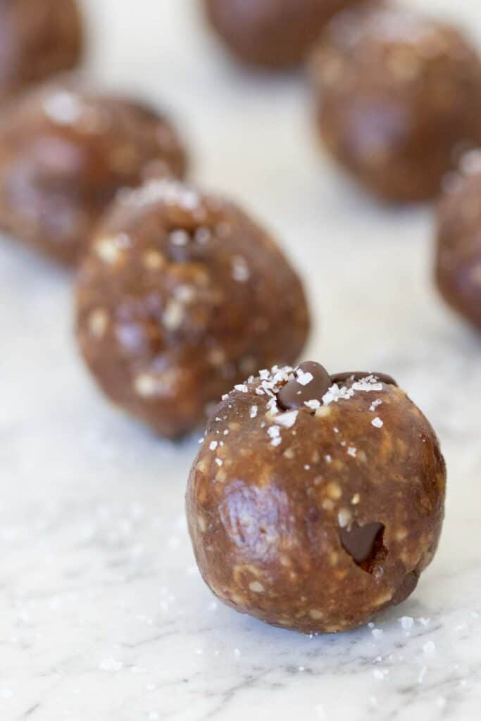 date nut balls with sea salt