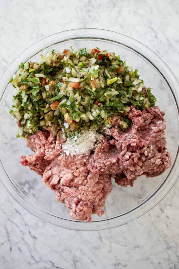 hawawshi meat stuffing