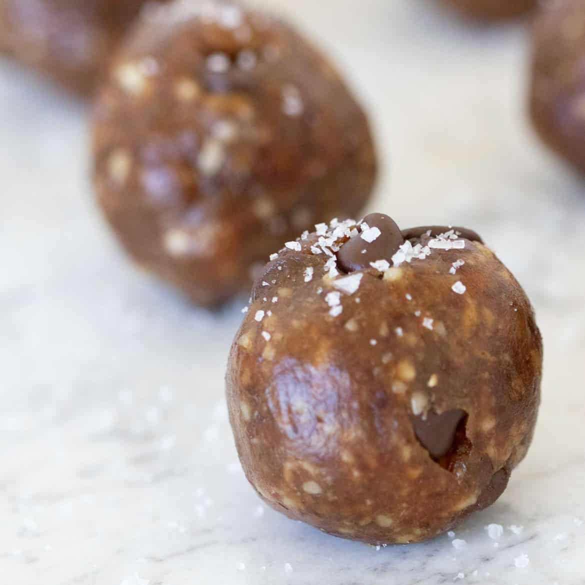 date balls with sea salt
