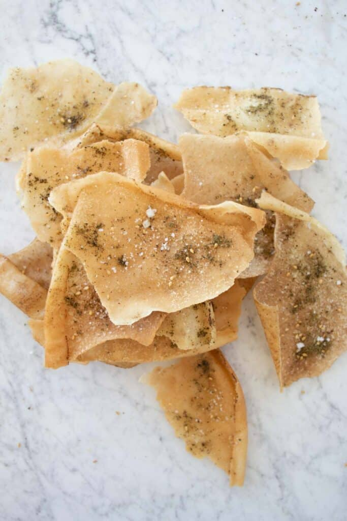 fried pita chips with za'atar