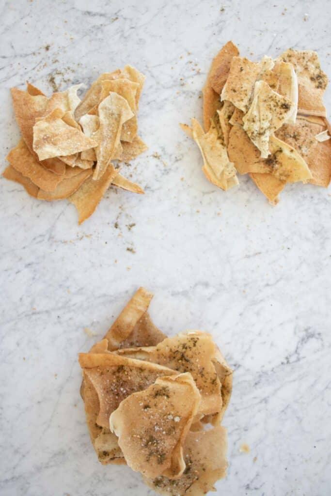 pita chips 2 ways