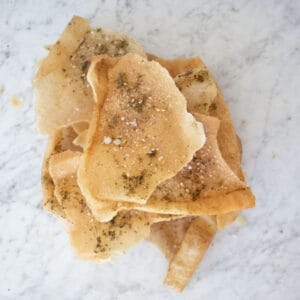 pita chips baked and fried