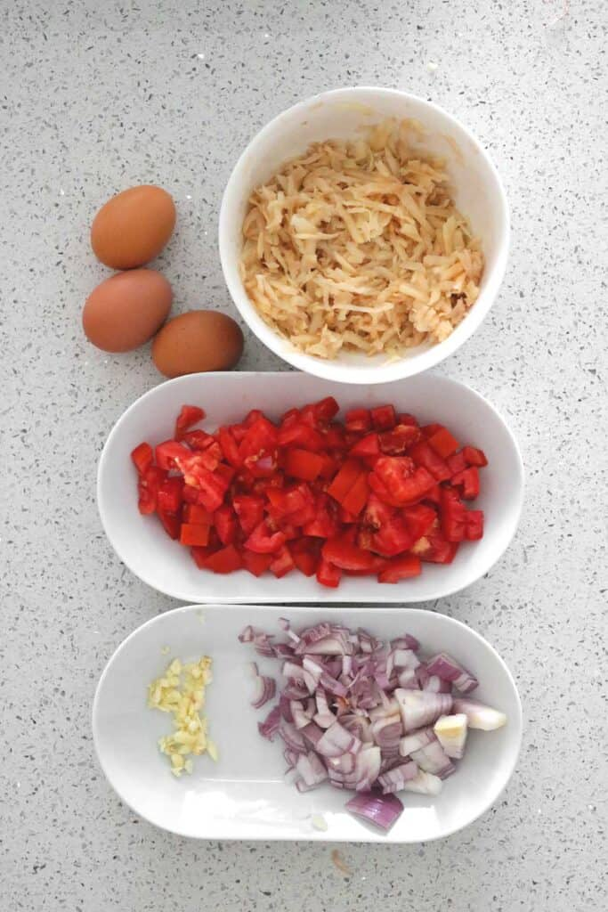 eggs with potatoes and tomatoes