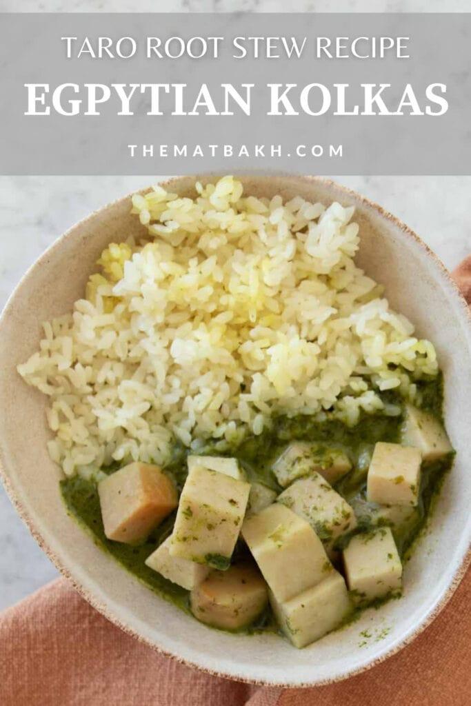 taro root stew egyptian kolkas