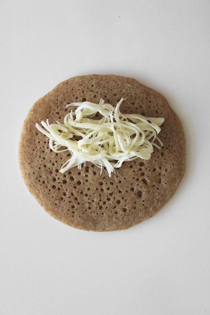 atayef cheese stuffed pancake