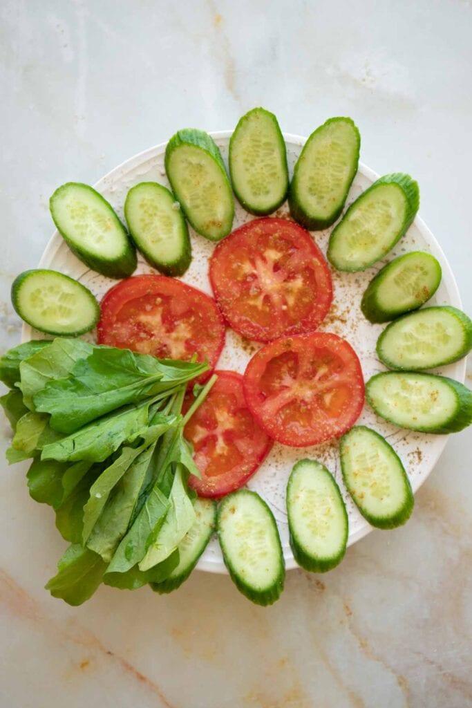 falafel sandwich vegetables