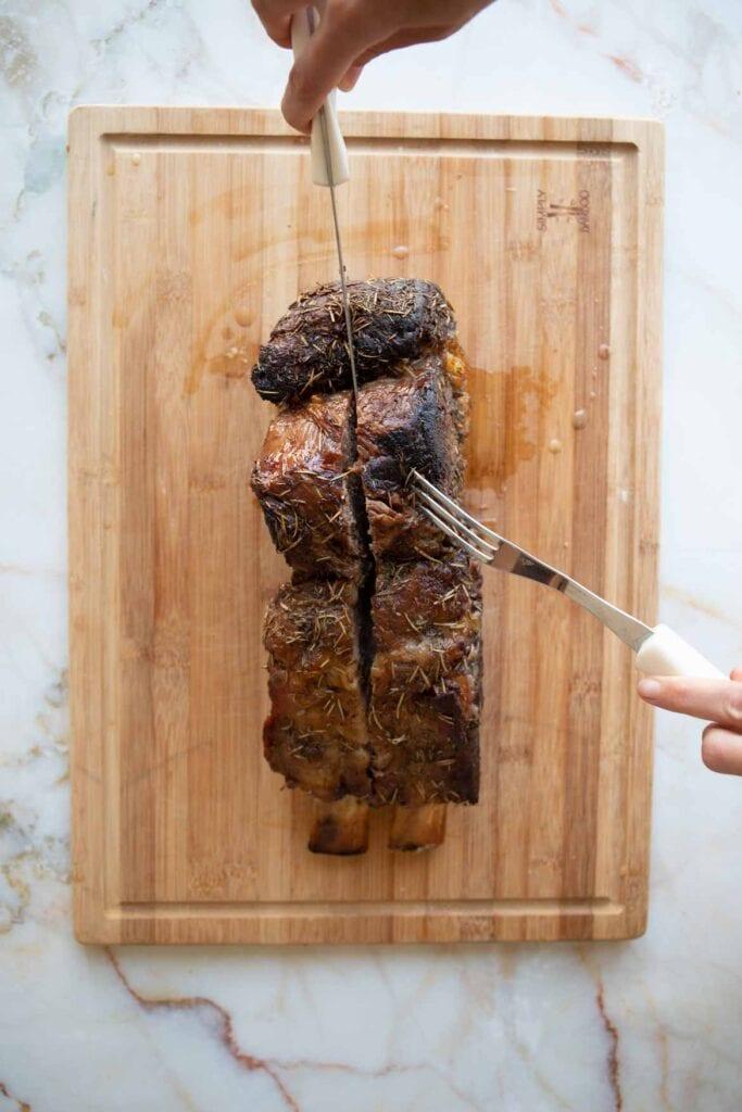 bone in tomahawk ribeye roast