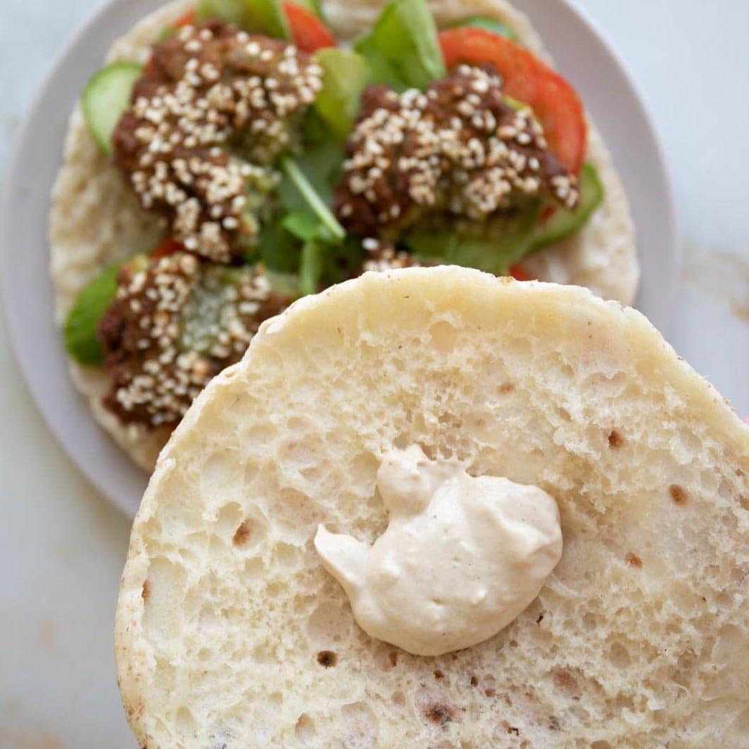 garlic tahini yogurt falafel sauce