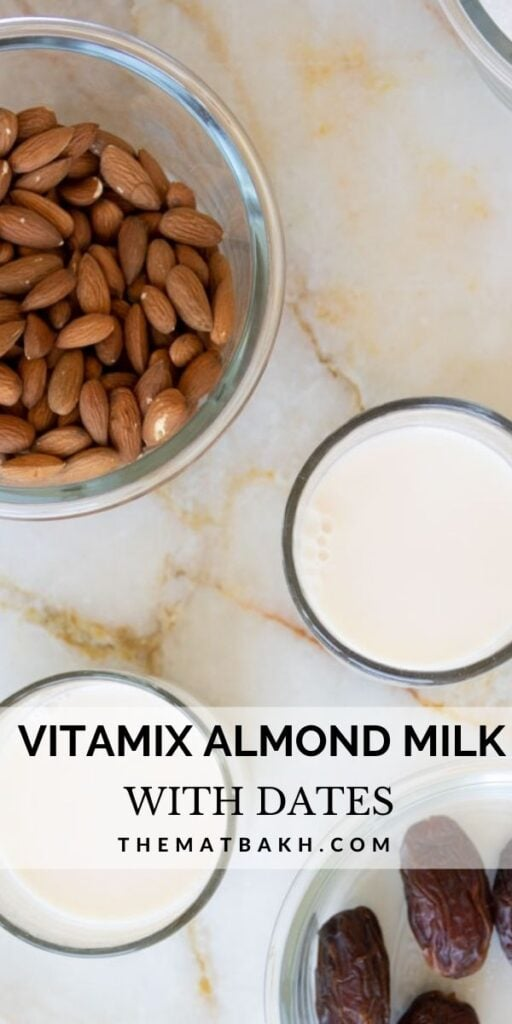 PIN FOR VITAMIX ALMOND MILK WITH DATES