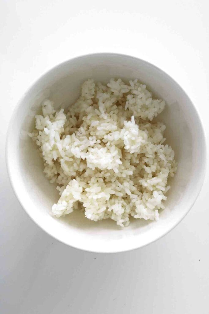 cooked rice for rice pudding