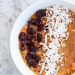 sweet potato almond butter bowl