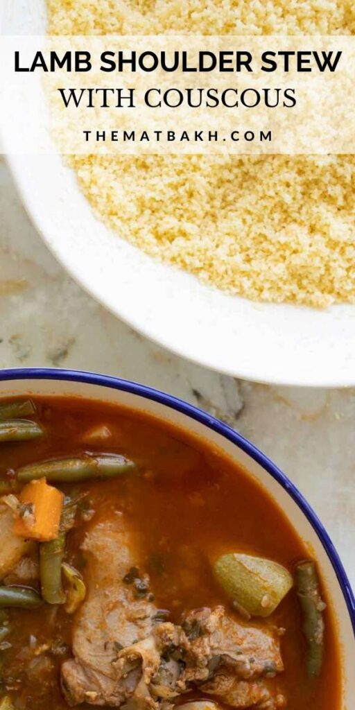 lamb stew with couscous pinterest pin