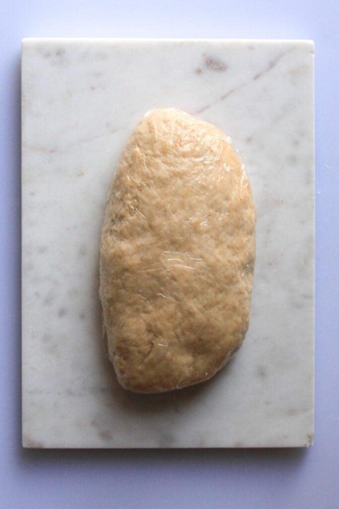 wrap the dough in plastic wrap