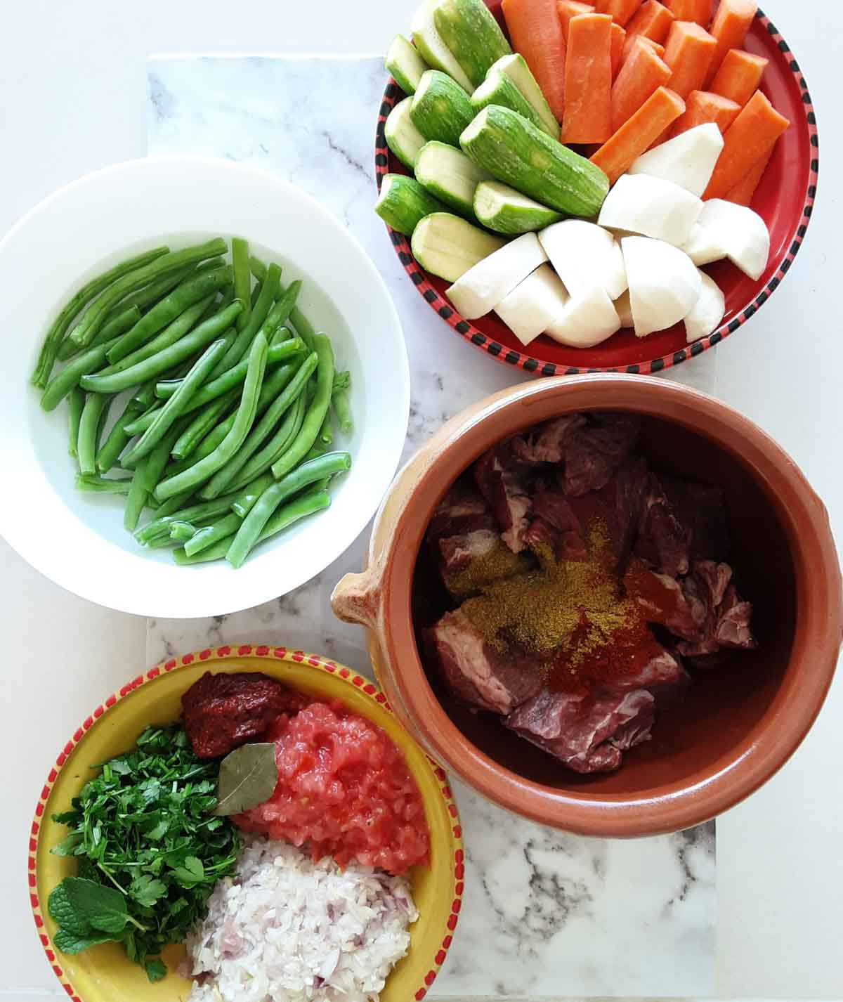 ingredients for algerian lamb shoulder stew