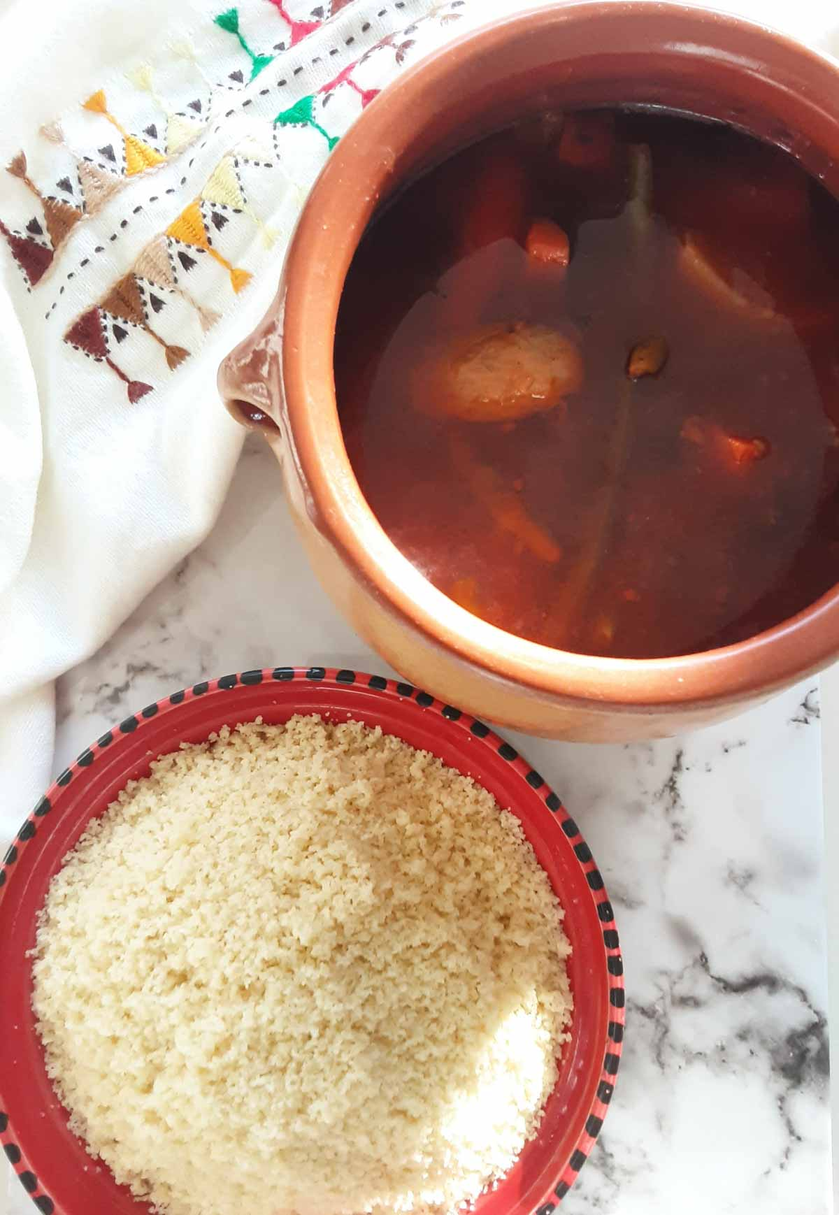 algerian couscous and lamb shoulder stew