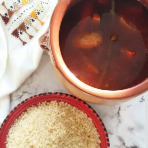 algerian couscous with lamb shoulder stew