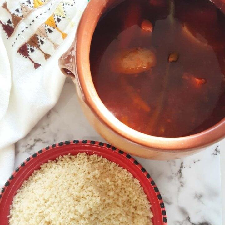 algerian couscous with lamb shoulder stew