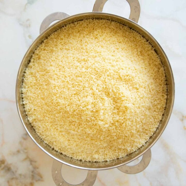 couscous in a steamer