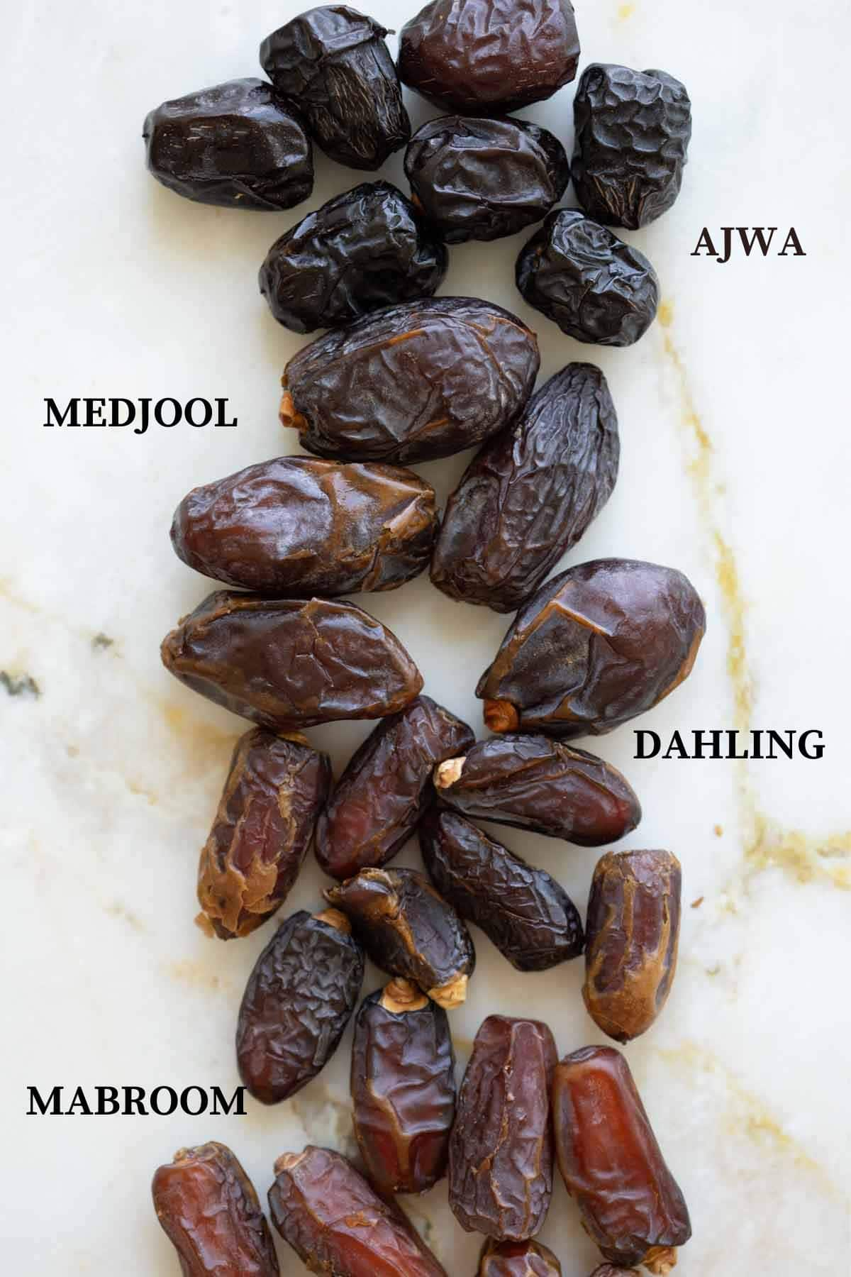 ajwa dates with medjool and mabroom