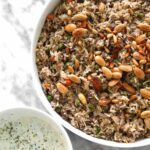 lamb ouzi spiced rice with toasted nuts
