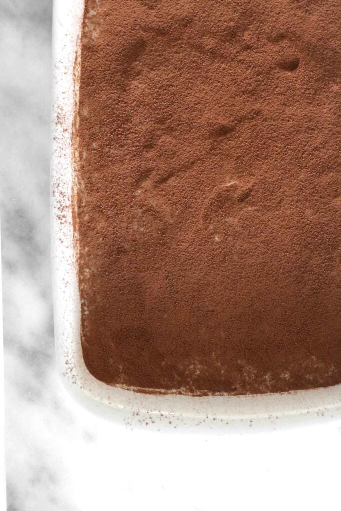 custard cake in the ceramic dish