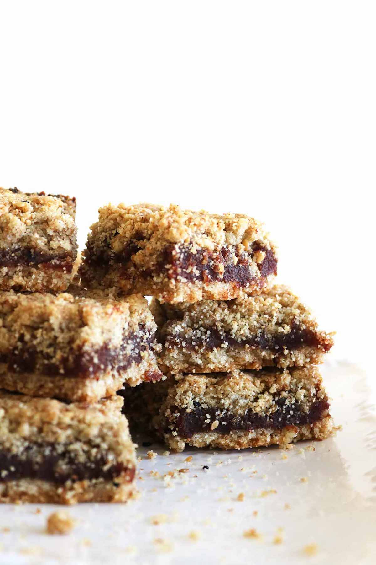 side view of maamoul date squares